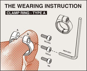Image of DRILLING LAB - Clamp Ring Type-A (Silver)