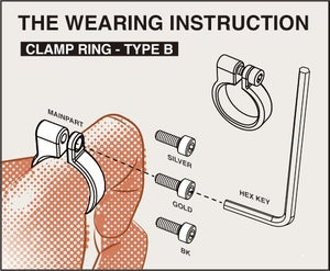 Image of DRILLING LAB - Clamp Ring Type-B (Silver)