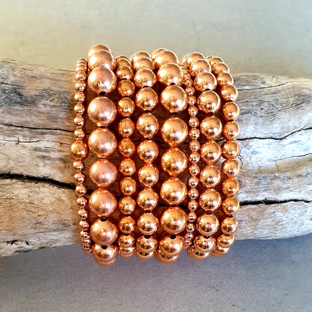 Image of COPPER 'The Healing Metal' Bead Bracelet - 4mm, 6mm, 8mm, 9.5mm