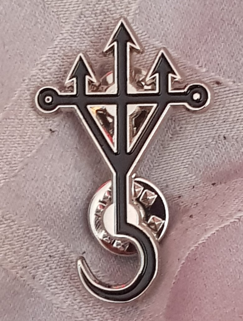 Image of Reapers Trident limited edition shaped enamel pin