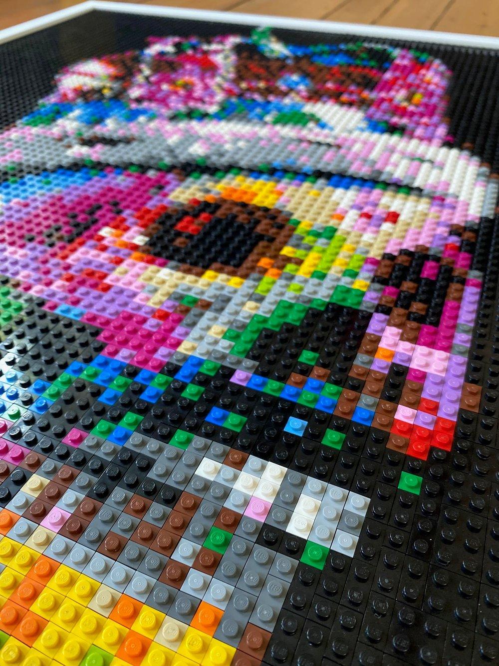 'Freddie in Brick' Lego Art by Grifshead