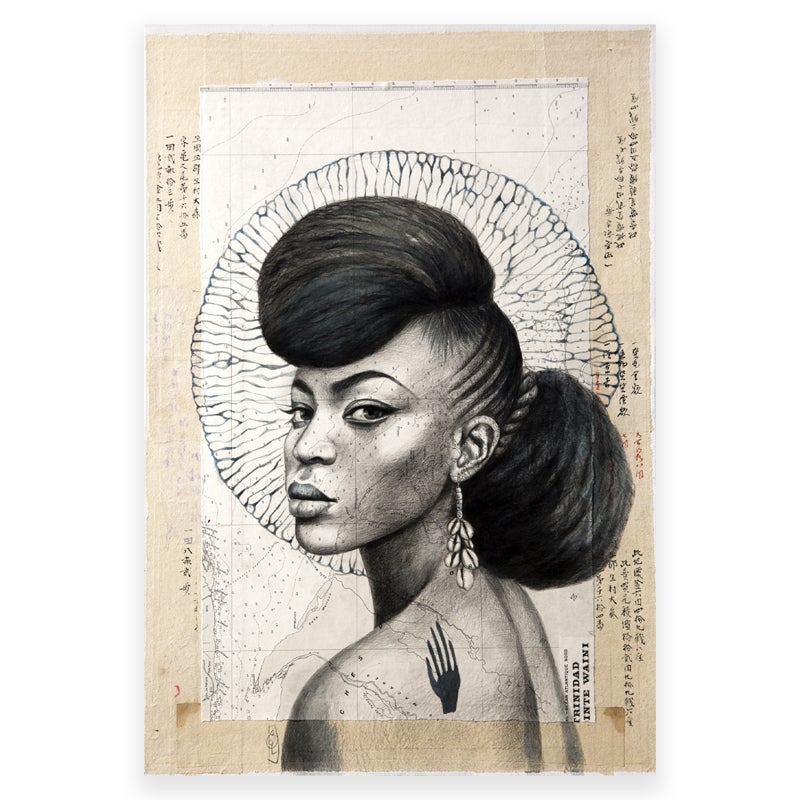 "Image of Canva Art Print - ""Trinidad en N&B"""