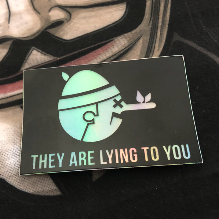 Image of LIE TO ME // STICKER