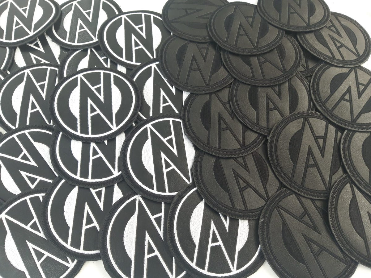 Image of CONFLICT Faux Leather Embroidered Round Patch