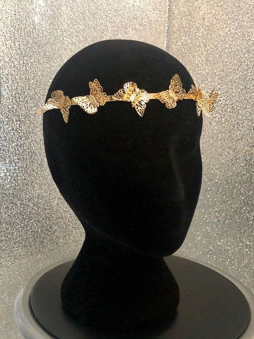 Image of Gold Butterfly Headband