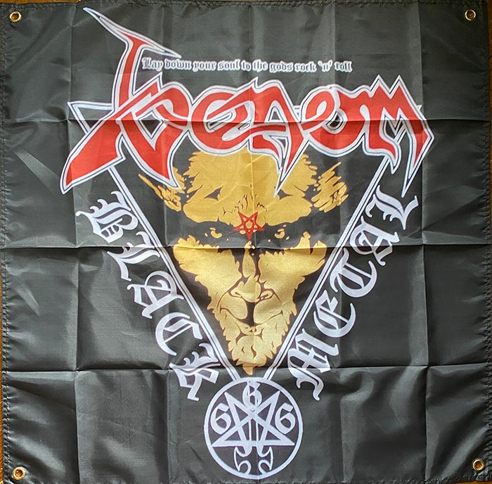 "Image of Venom "" Lay Down Your Soul "" Flag / Tapestry / Banner"