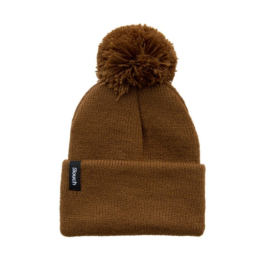 Image of Copper Knit Cuff Beanie w/ Pom