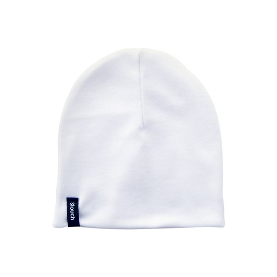 Image of White Slouch Beanie