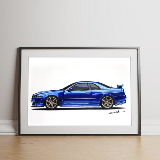 Image of Nissan Skyline GT-R (R34) Original Artwork