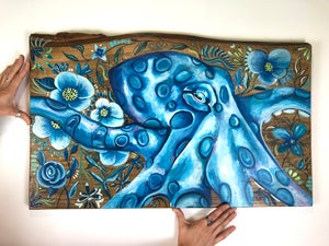 "18"" x 30"" Octopus Commission"