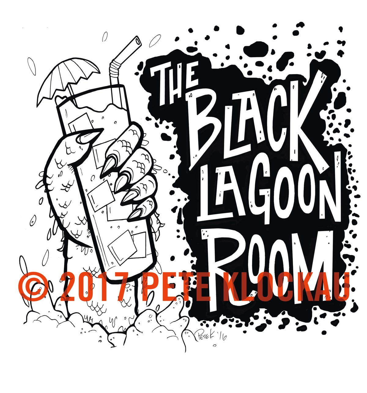 BLACK LAGOON ROOM Logo 11oz Old Fashioned Cocktail Glass
