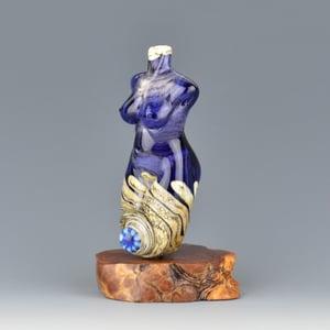 Image of XXL. Mariner Goddess - Flamework Glass Sculpture Bead