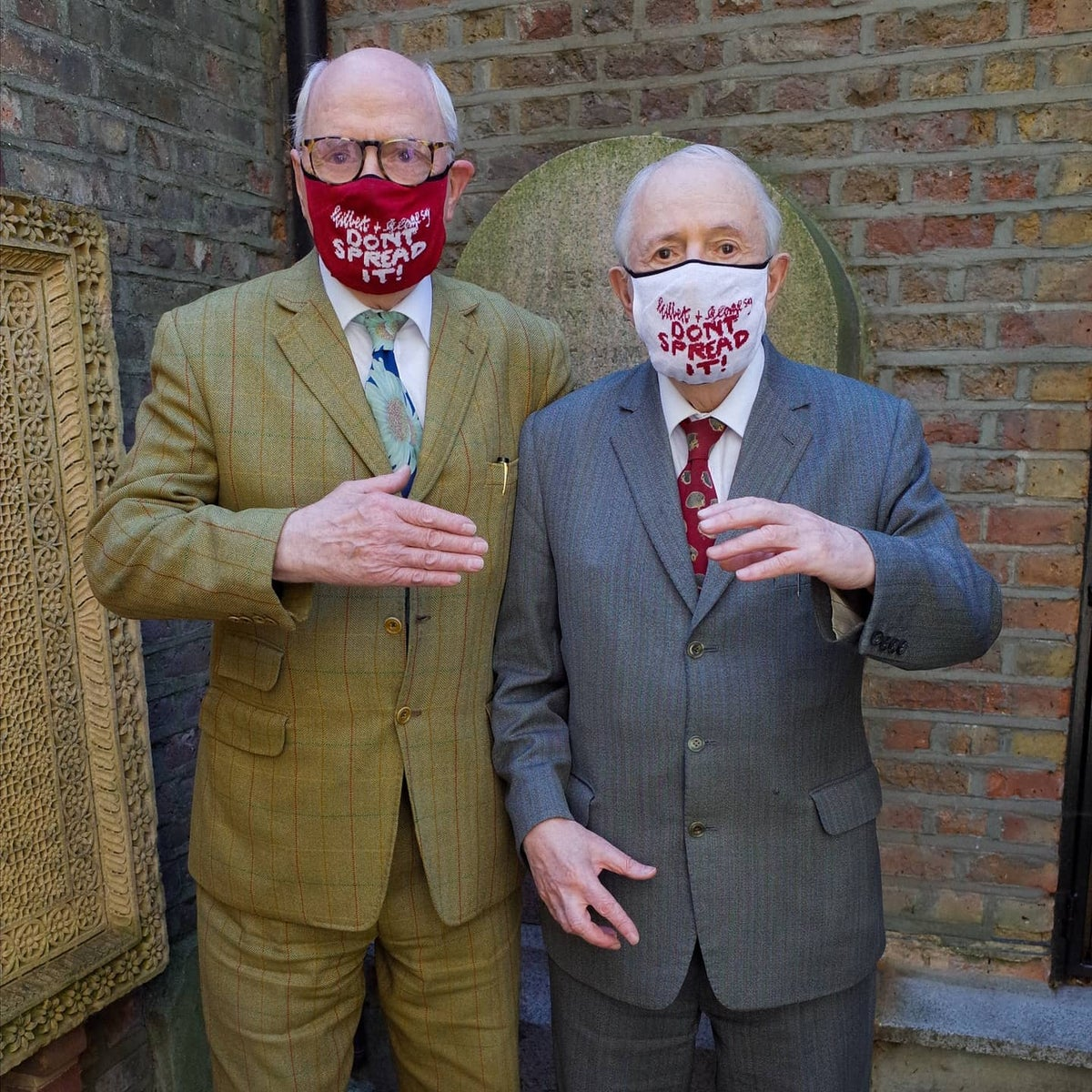Image of Gilbert & George Facemask - White