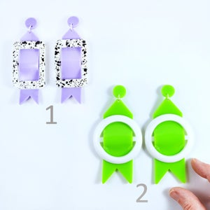 Image of Buckle Earrings 1 and 2