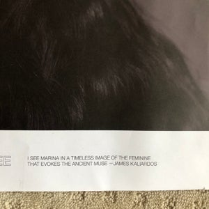 Image of Marina Abramovic by Matthu Placek Poster for Visionaire 65