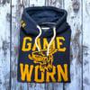 GAME-WORN Super Heavyweight Pullover Hooded Sweatshirt - Vintage Navy/Gold