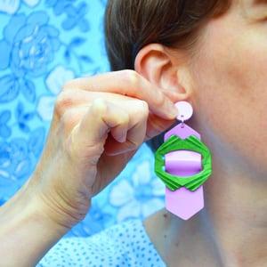 Image of Buckle Earrings 3, 4 and 5