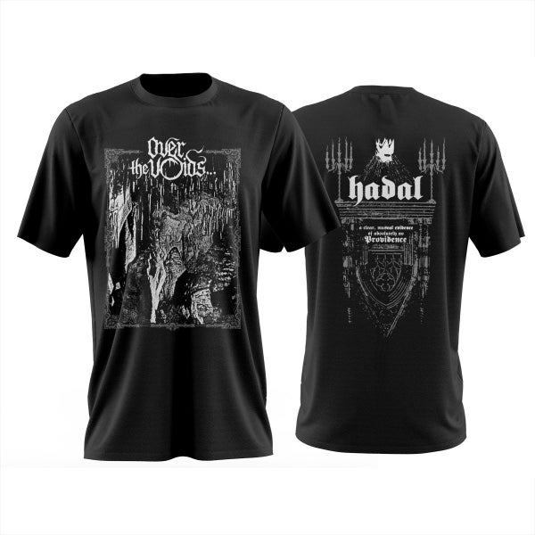 Image of OVER THE VOIDS - 'Hadal' black men's t-shirt