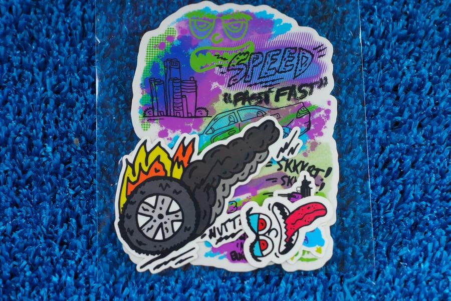 Image of Crash & Burn  Sticker Pack