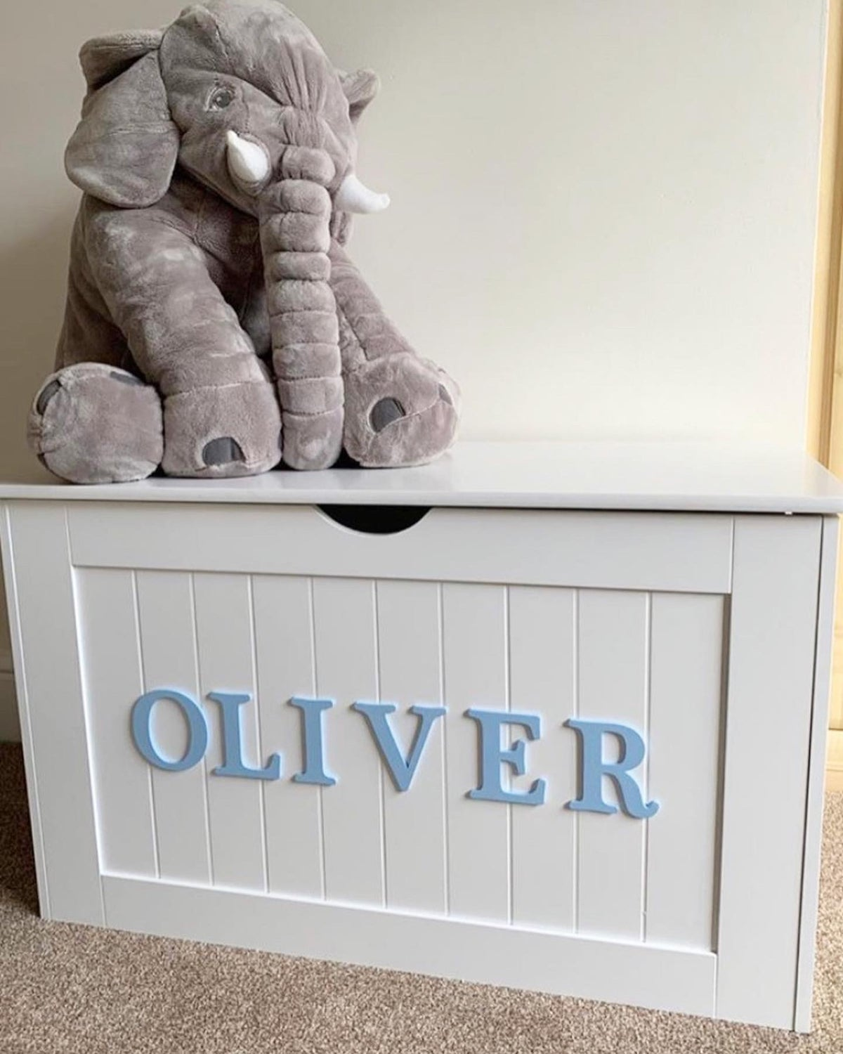 Image of Boys Personalised Chest - Wooden Top