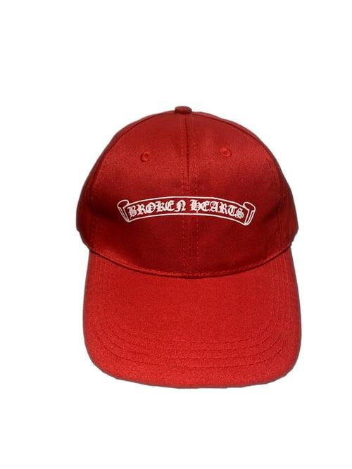 Image of Broken Hearts Baseball Cap (Black/Red)