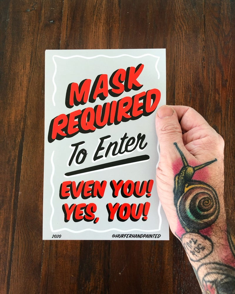 Image of Masks Required- Mini Poster- 5.5x8.5""