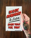 """Masks Required- Mini Poster- 5.5x8.5"""""""