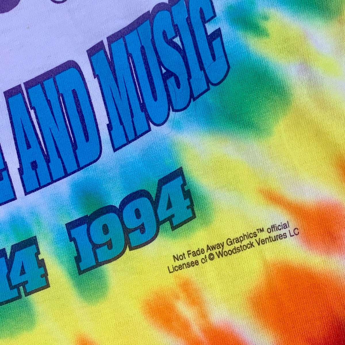 Original Vintage Woodstock 1994 Dye!! XL