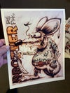 Brother Rat Fink Print - Limited Edition - Printed on Leather Textured Paper