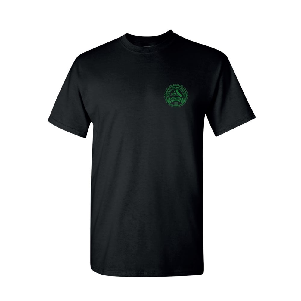 Image of Wrongkind Stamp T-Shirt (Black w/ Green)