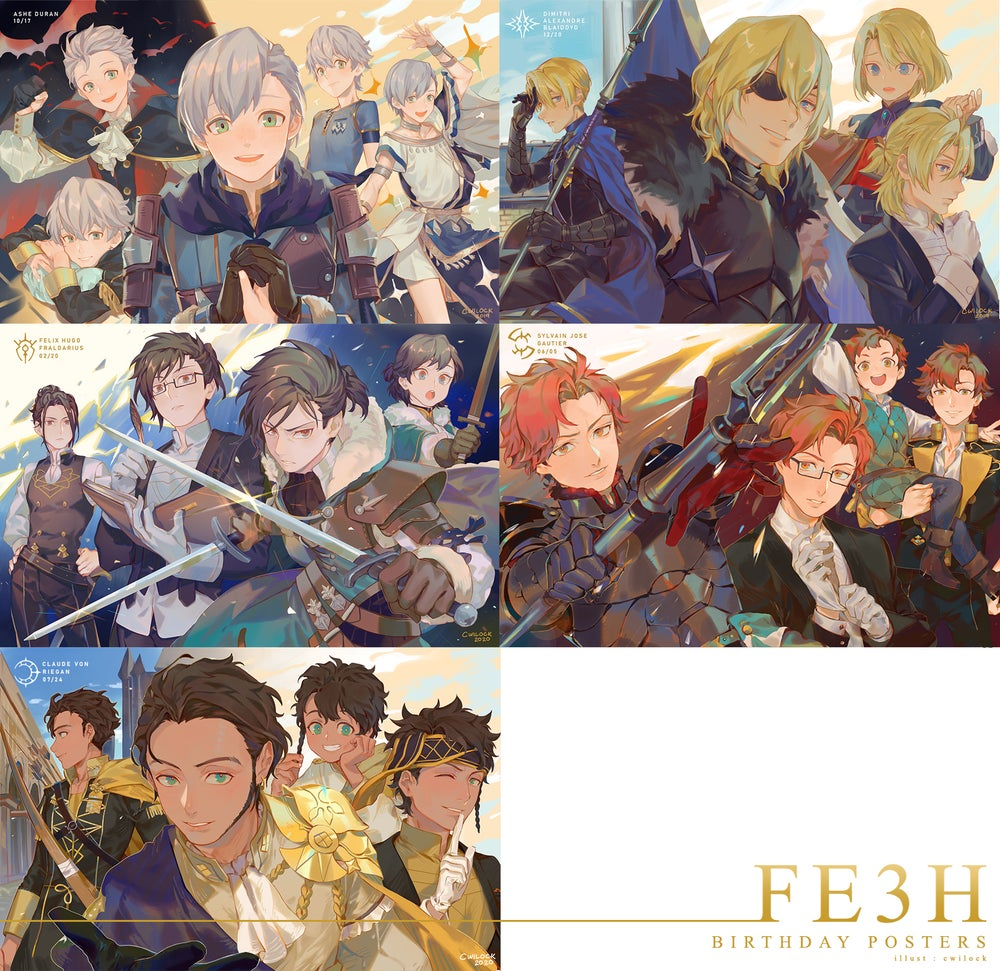 Image of FE3H Birthday Posters