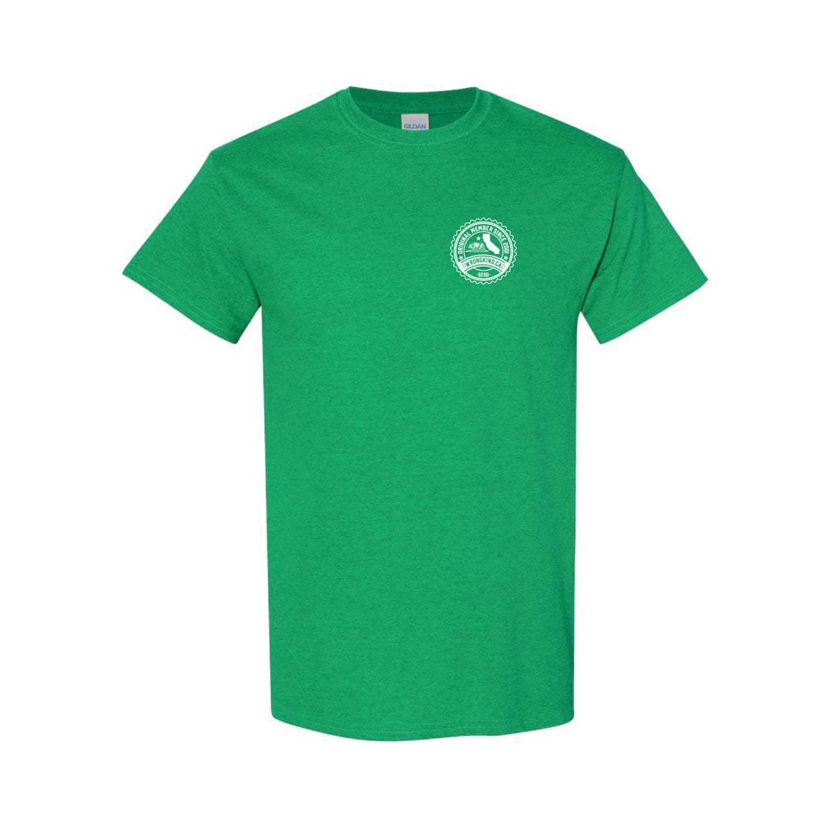 Image of Wrongkind Stamp T-Shirt (Green w/ White)