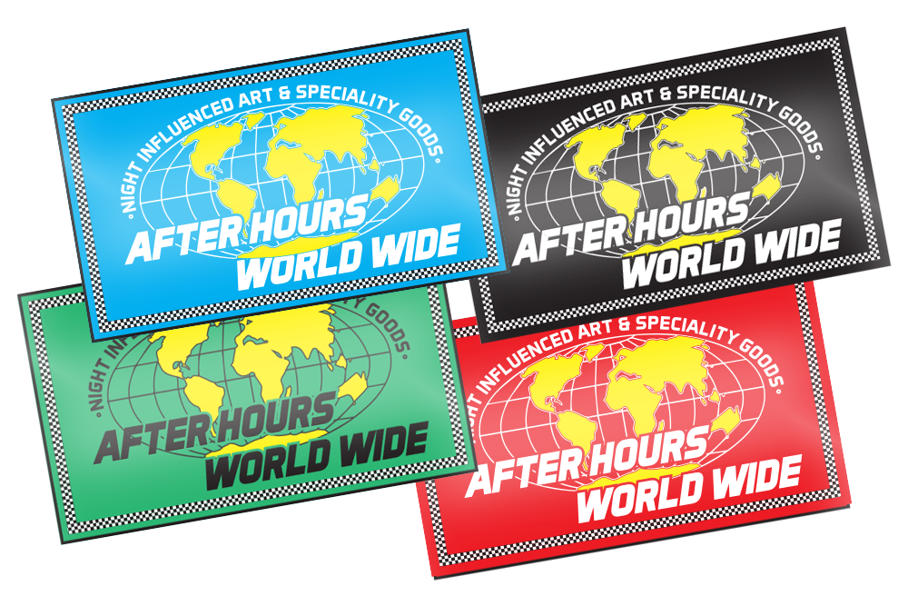 Image of After Hours World Wide - V2 - Sticker
