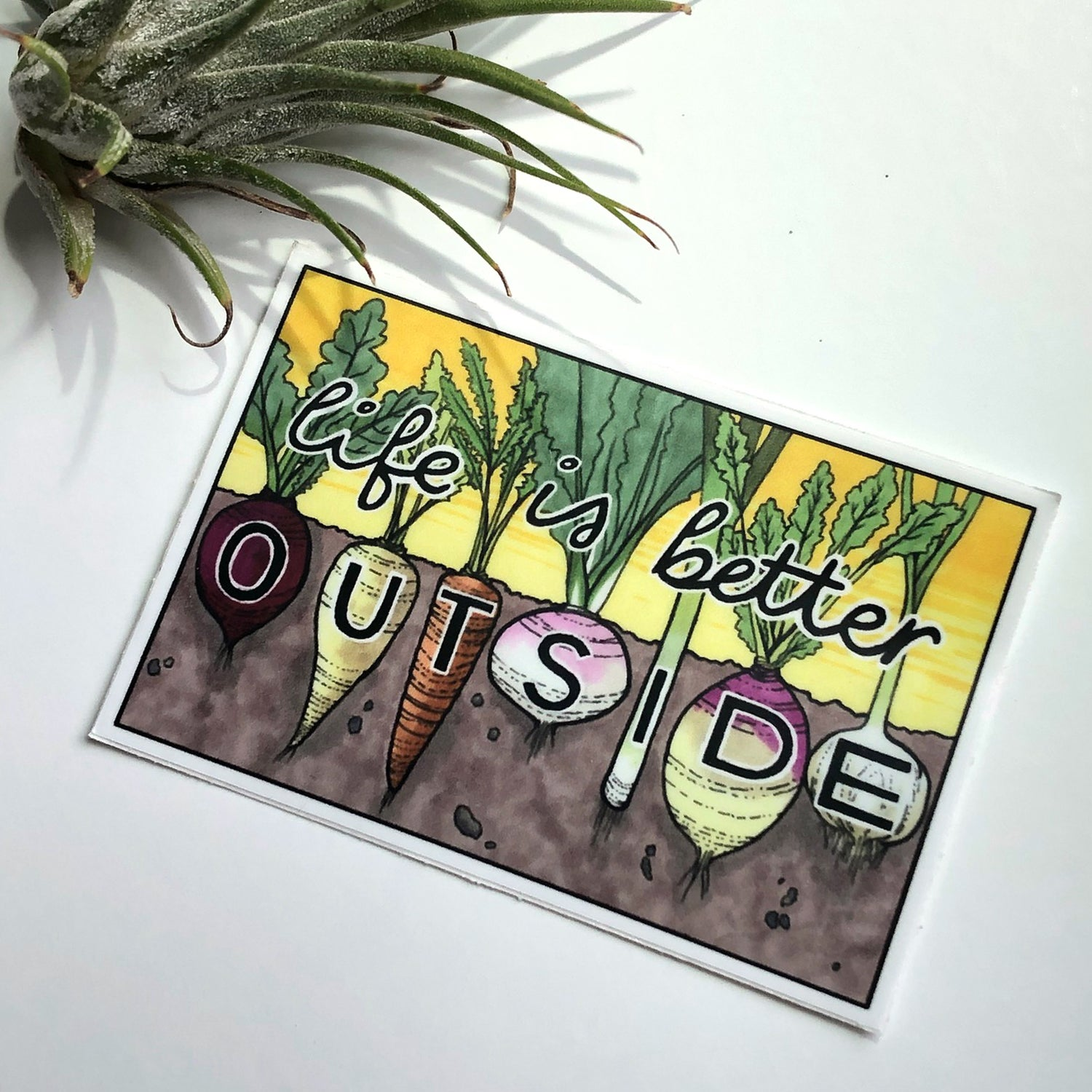 Image of Life is Better Outside Veggies sticker