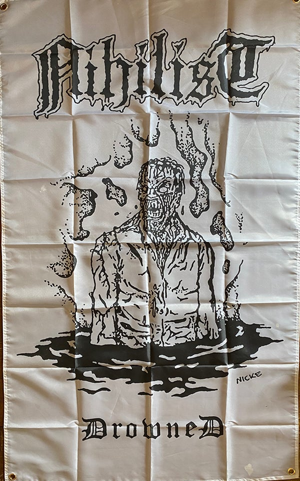 "Image of Nihilist "" Drowned "" Flag / Banner / Tapestry"