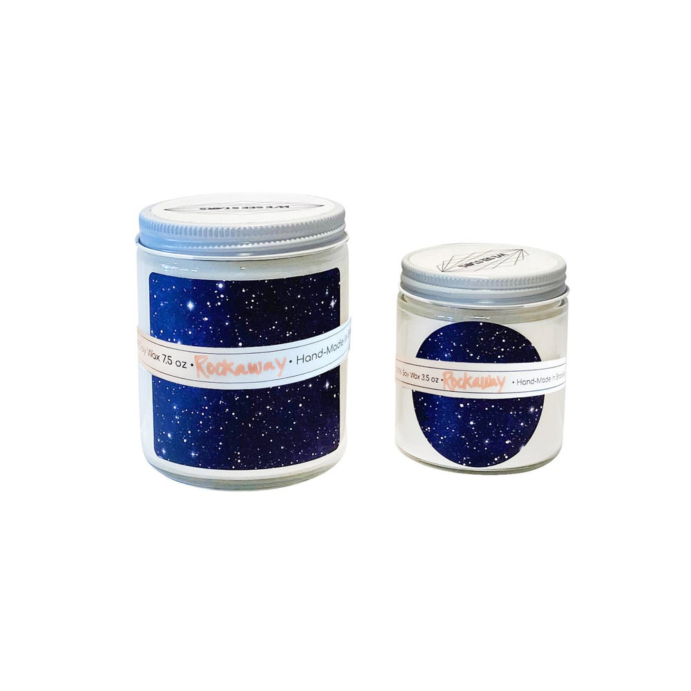 Image of WE SEE STARS HAND POURED CANDLE: Rockaway