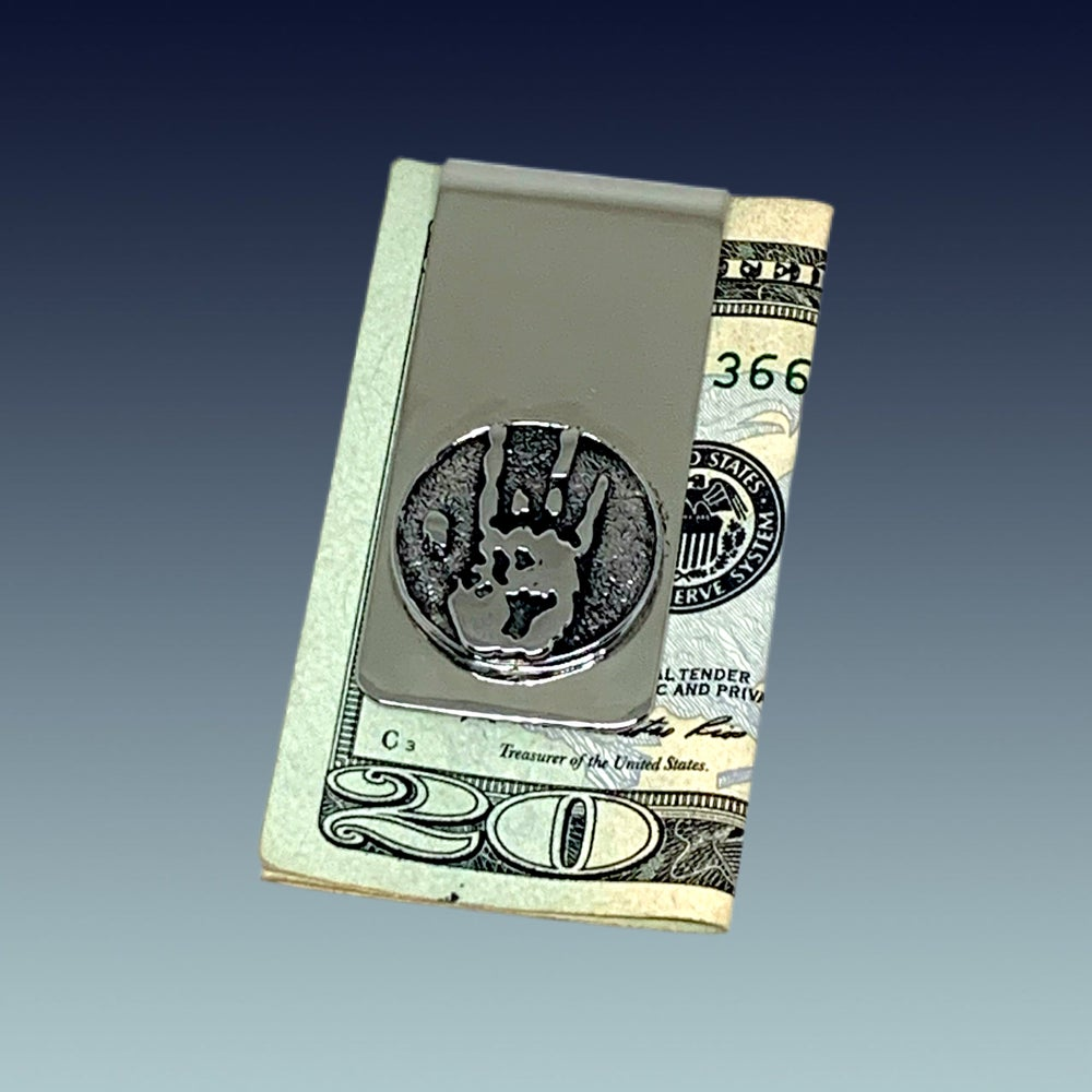 Image of Jerry Hand Print Money Clip