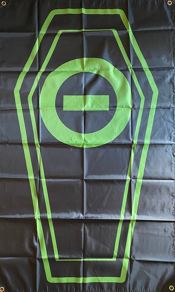 """Image of Type O Negative """" Coffin """"  Flag / Banner / Tapestry"""