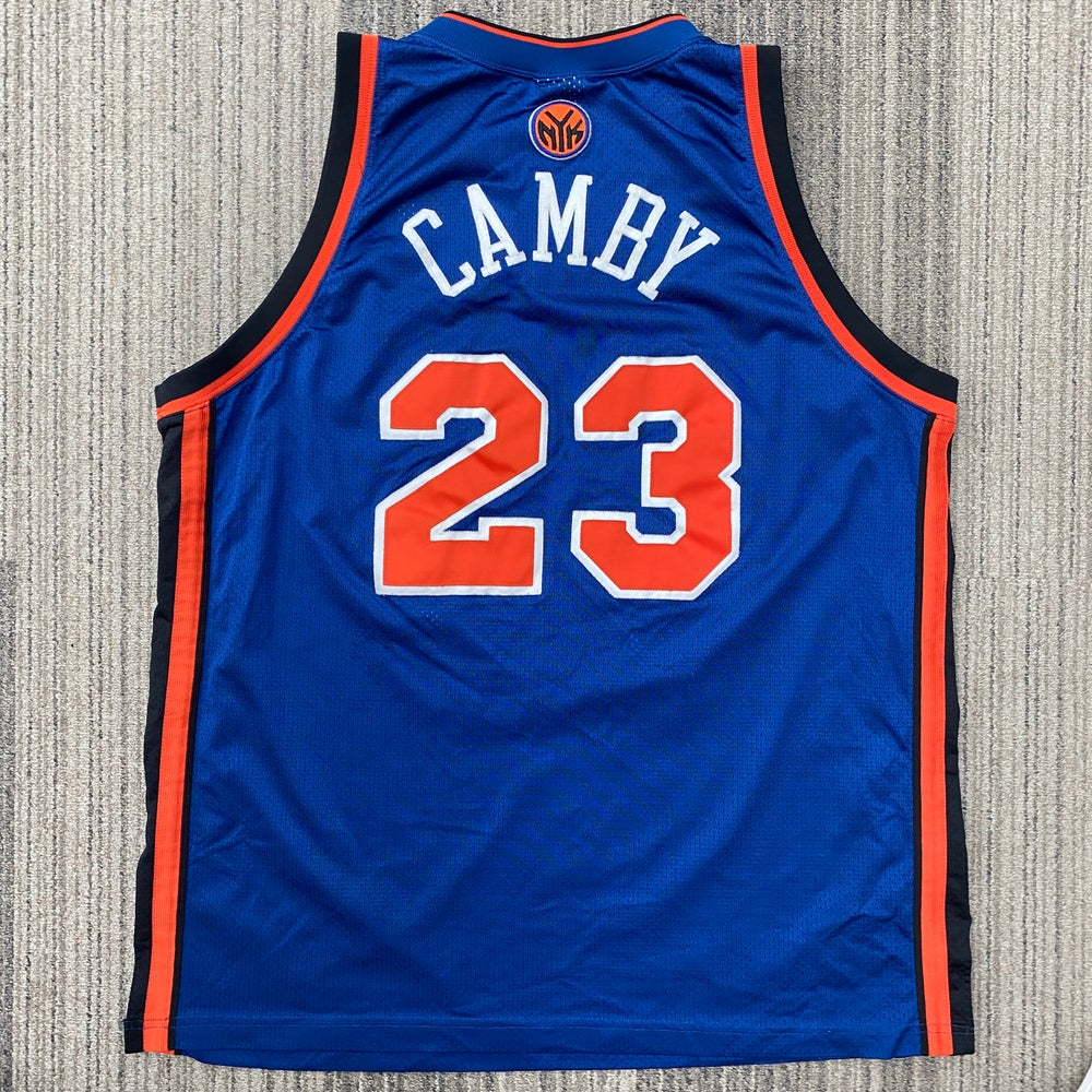 Image of Authentic Marcus Camby New York Knicks Reebok Jersey