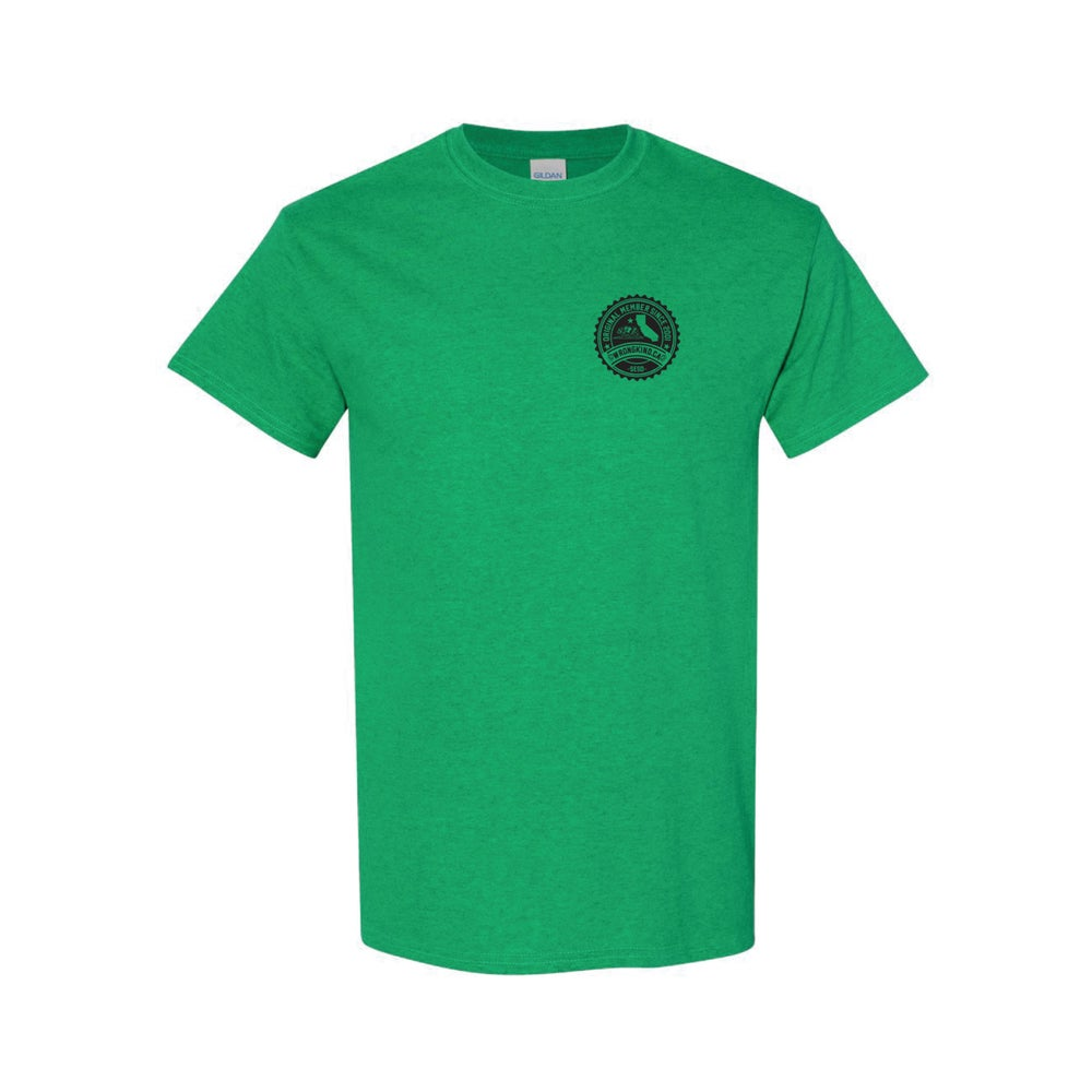 Image of Wrongkind Stamp T-Shirt (Green w/ Black)