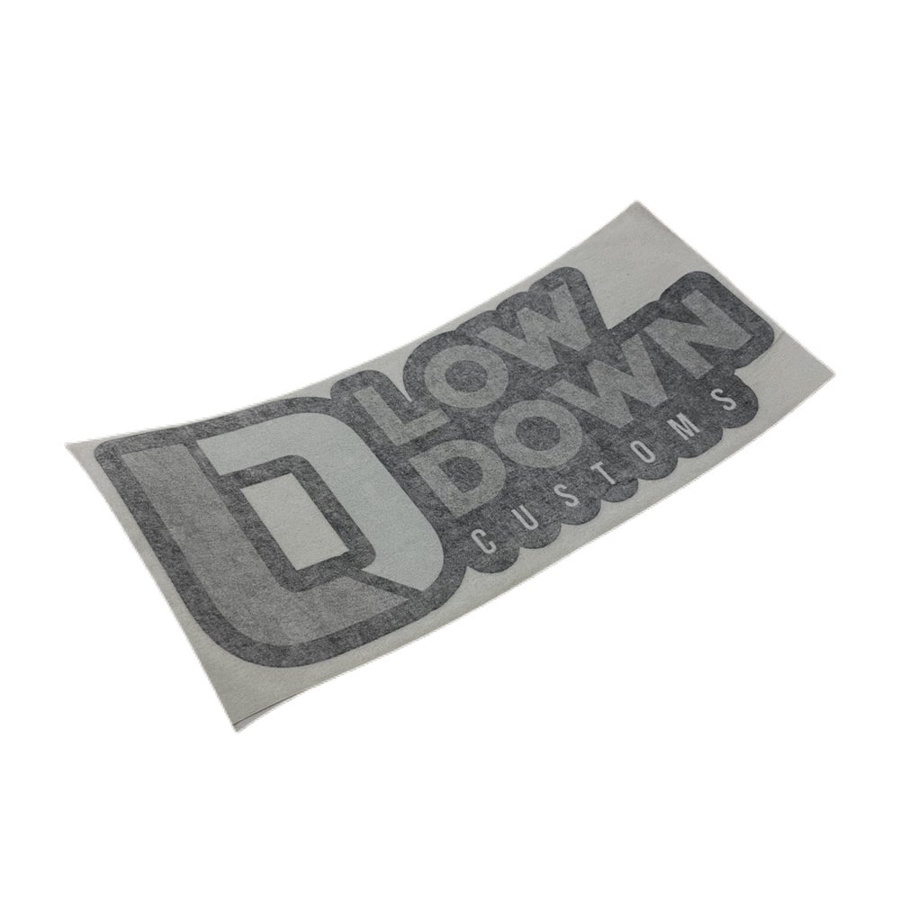 """Image of Low Down Customs 9"""" Decal Black Grey"""