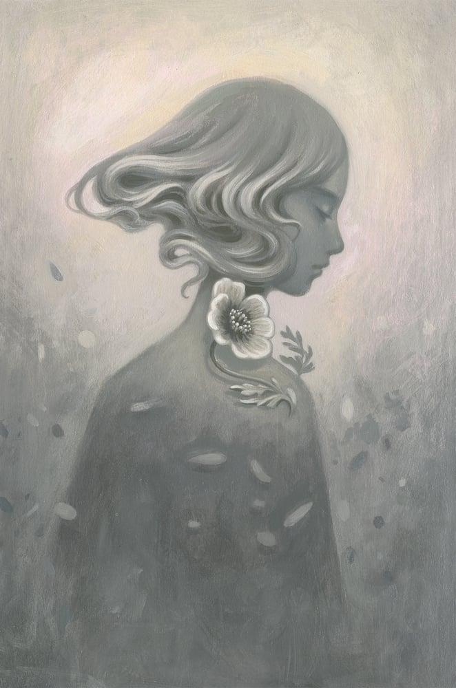 Image of Wind Poppy ~ Oil Sketch