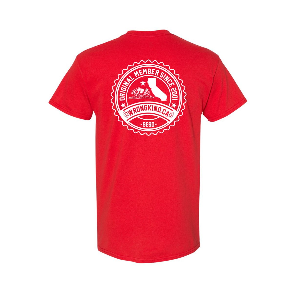 Image of Wrongkind Stamp T-Shirt (Red w/ White)