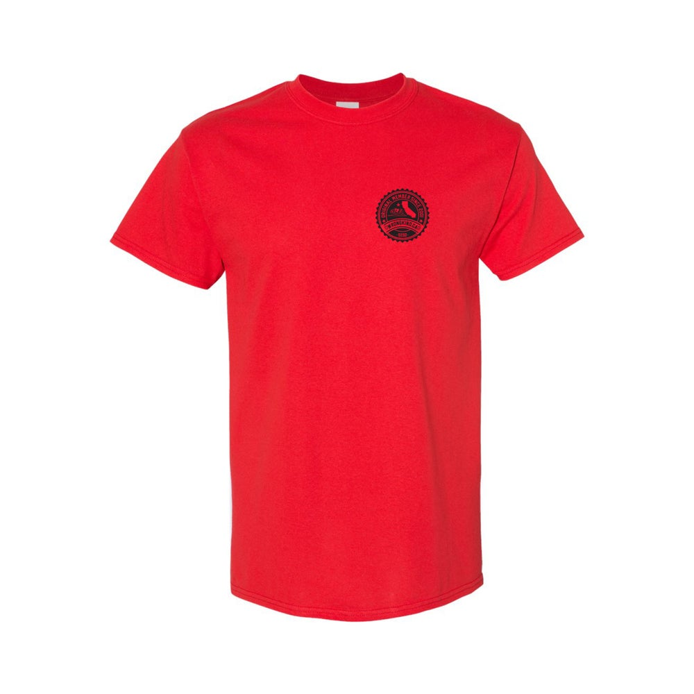Image of Wrongkind Stamp T-Shirt (Red w/ Black)