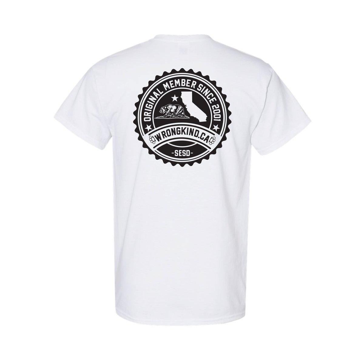 Image of Wrongkind Stamp T-Shirt (White w/ Black)
