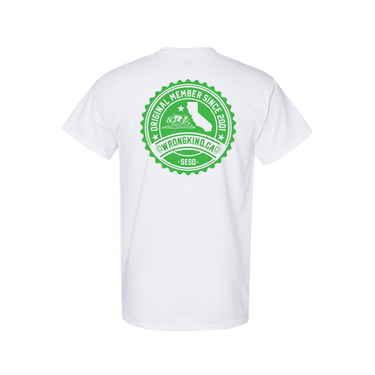 Image of Wrongkind Stamp T-Shirt (White w/ Green)