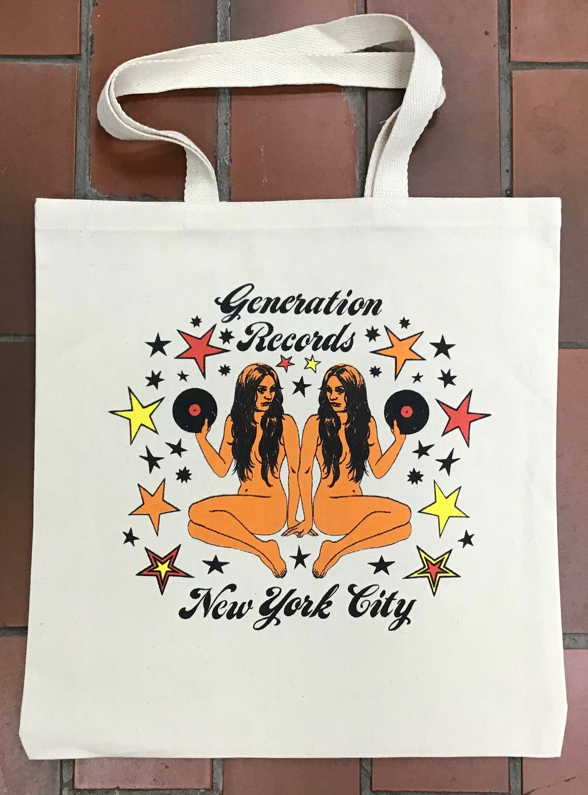 Image of Generation Records Totebag Dilek Baykara Design