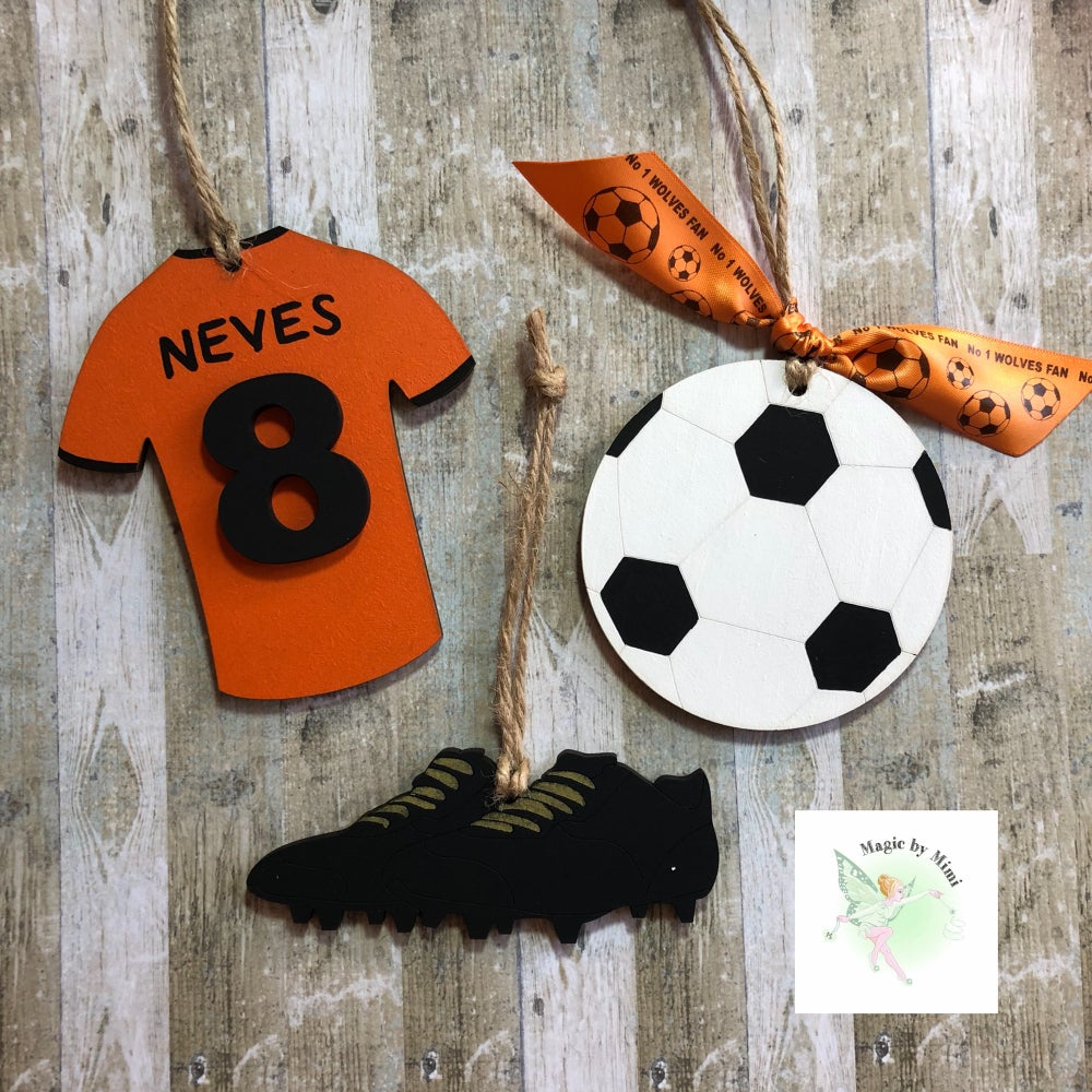 Image of Set of 3 Football decorations