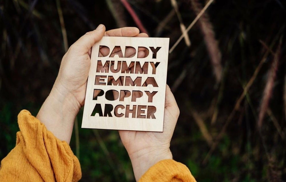 Image of MINI FAMILY NAME PLAQUE