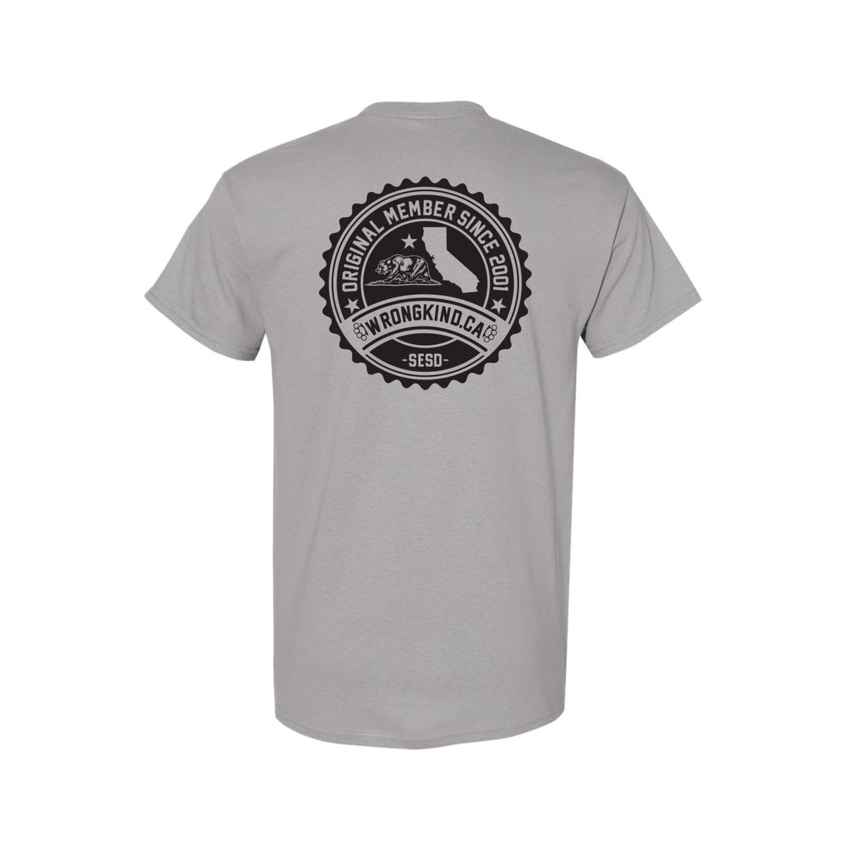 Image of Wrongkind Stamp T-Shirt (Gray w/ Black)